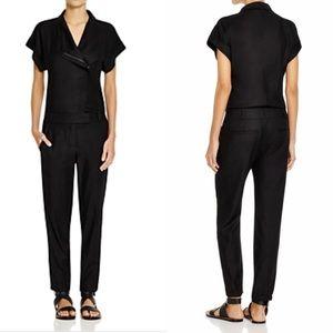 Vince Black Zip Front Jumpsuit | Size 4